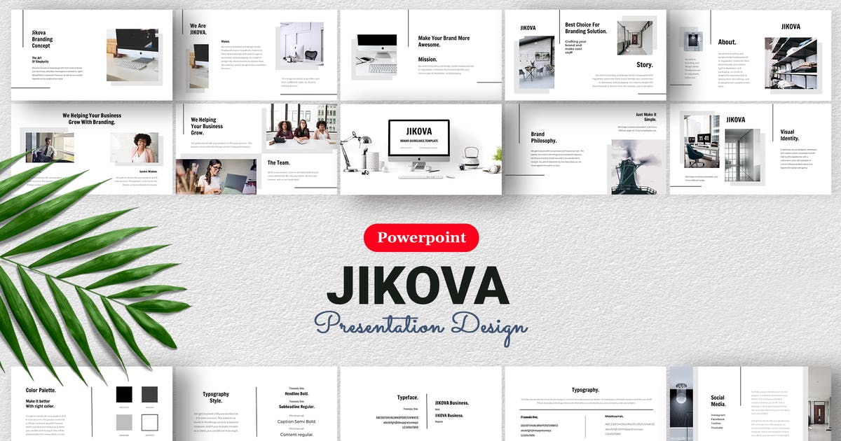 Download Jikova - Presentation Design Template Powerpoint by sudutlancip
