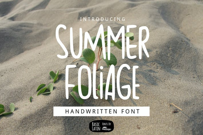 Thumbnail for Summer Foliage Font