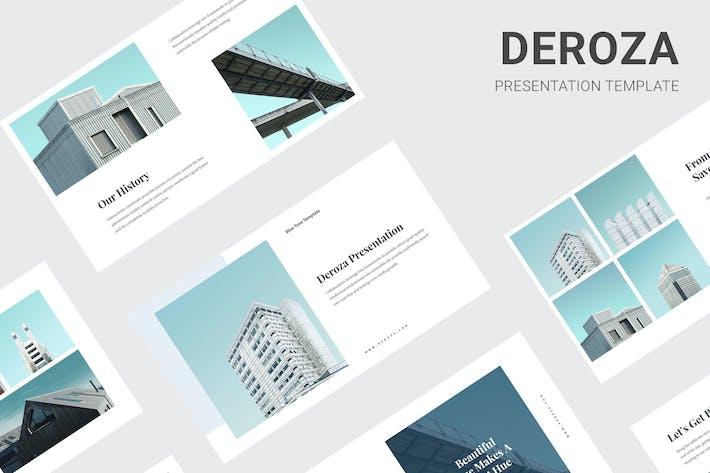Leroza - Blue Color Tone Proposal Powerpoint