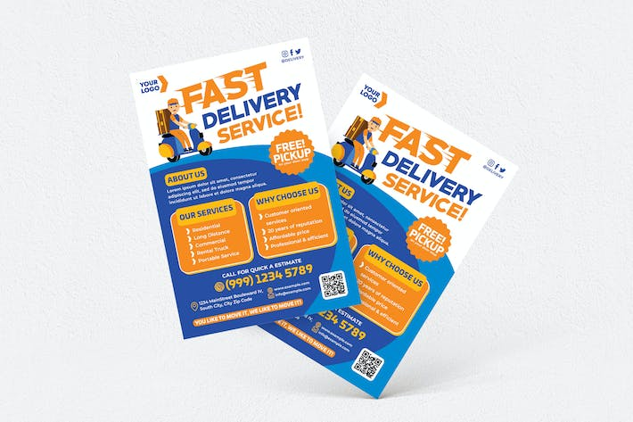 Thumbnail for Fast Delivery Service Flyer