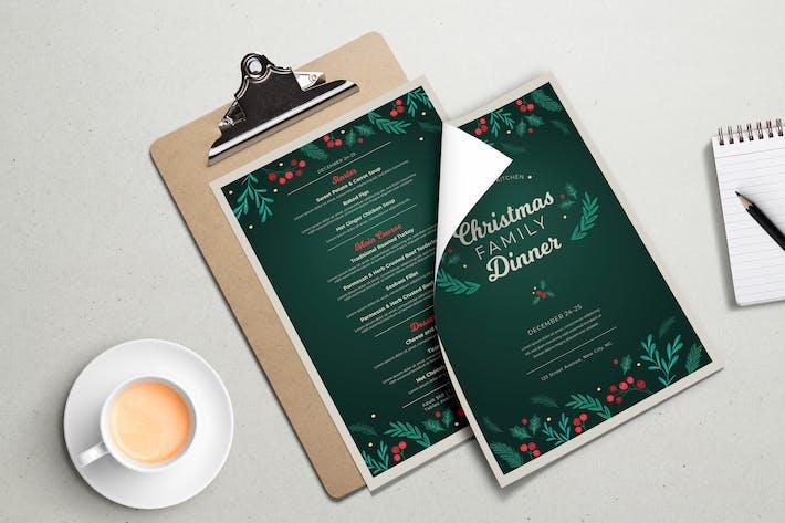 Thumbnail for Modèle de dîner familial de Noël