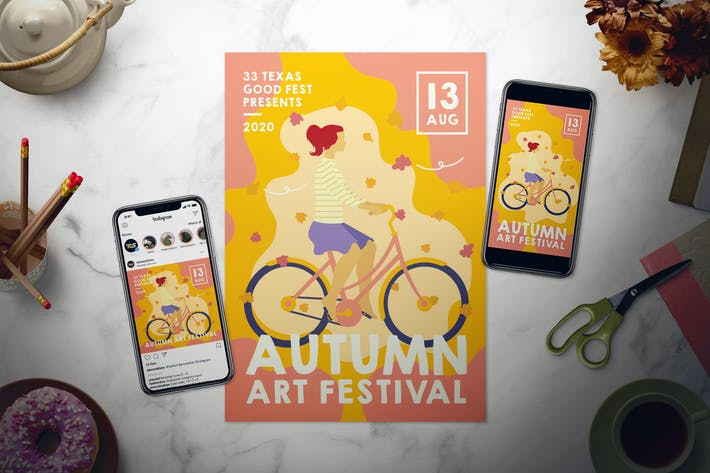 Thumbnail for Autumn Festival Flyer Set