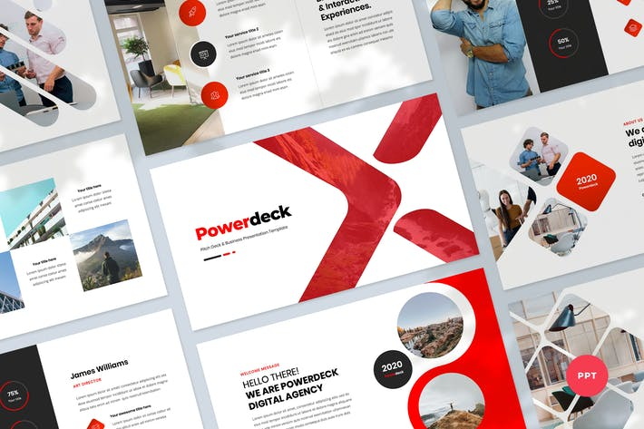 Thumbnail for Pitch Deck & Business Powerpoint Template