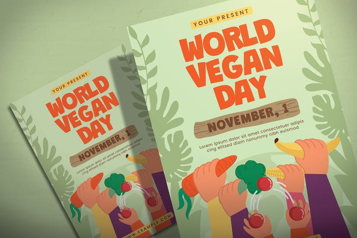 Thumbnail for World Vegan Day - Flyer Template