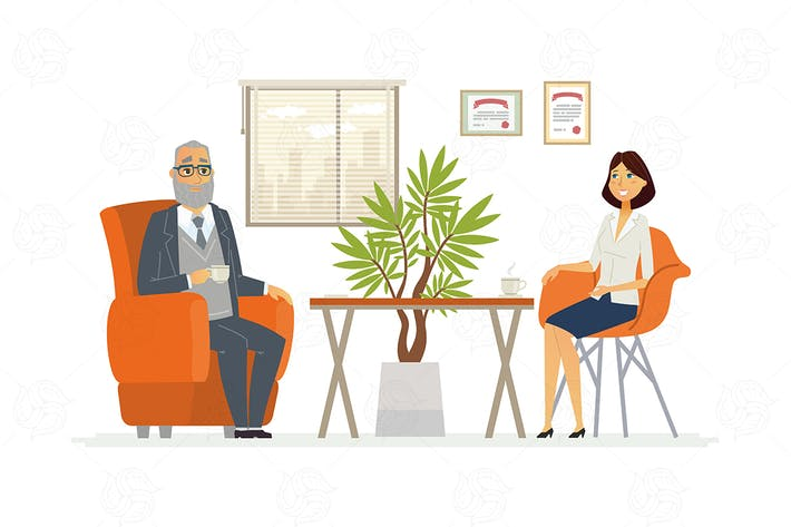 Cover Image For Business Consultation - vector illustration