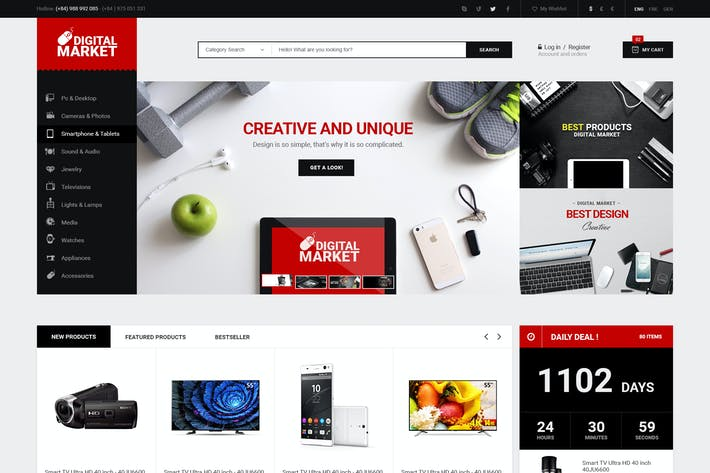 Thumbnail for Supper Market - PSD Ecommerce Templates