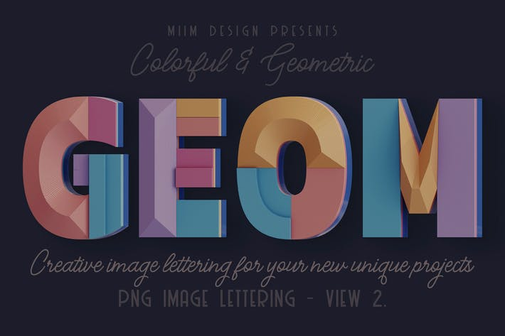 Thumbnail for Decorative Geometry - 3D Lettering - View 2