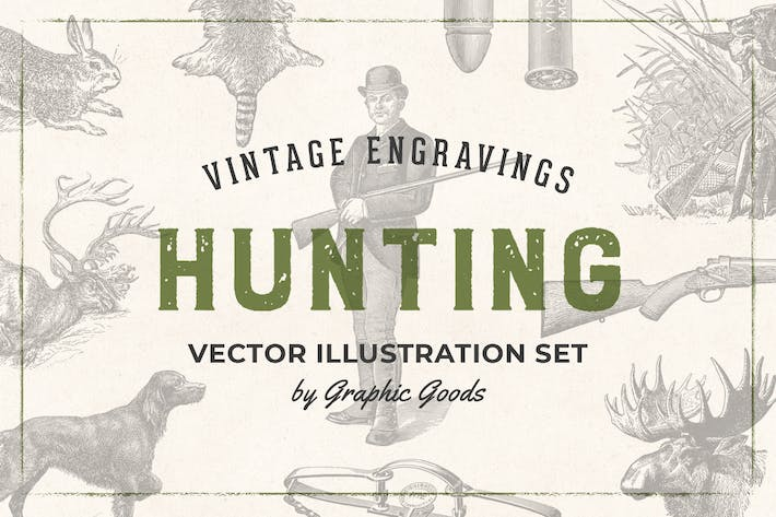Thumbnail for Hunting – Vintage Engraving Illustrations