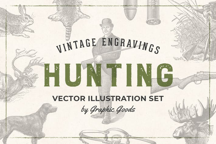 Hunting – Vintage Engraving Illustrations