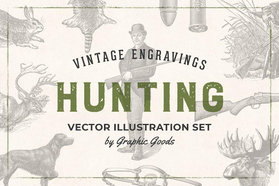 Hunting – Vintage Engraving Illustrations