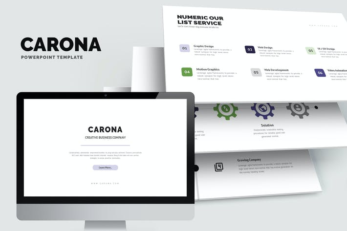 Thumbnail for Carona : Modern Company Profile Powerpoint