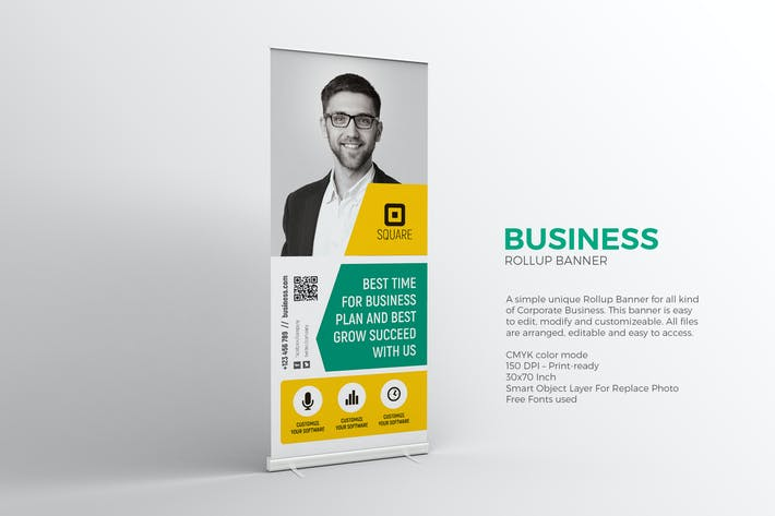 Thumbnail for Business Roll-up Banner