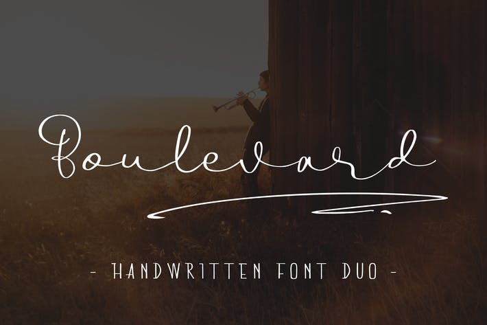 Thumbnail for Boulevard - Handwritten Font Duo