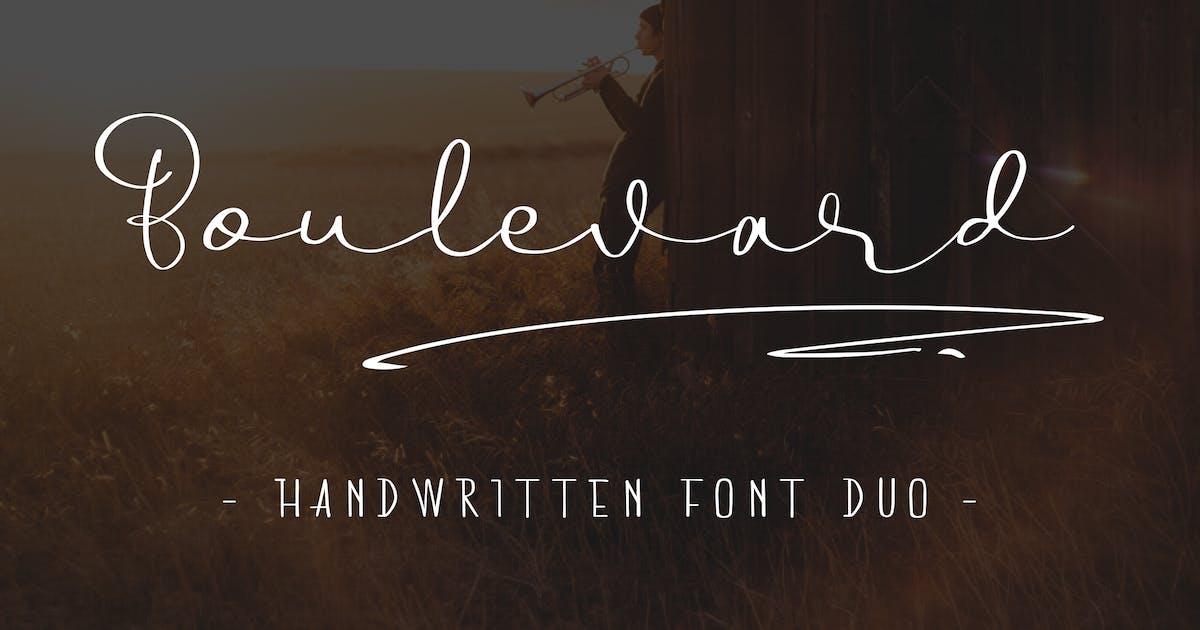 Download Boulevard - Handwritten Font Duo by telllu