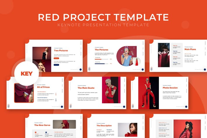 Красный проект - Шаблон Keynote