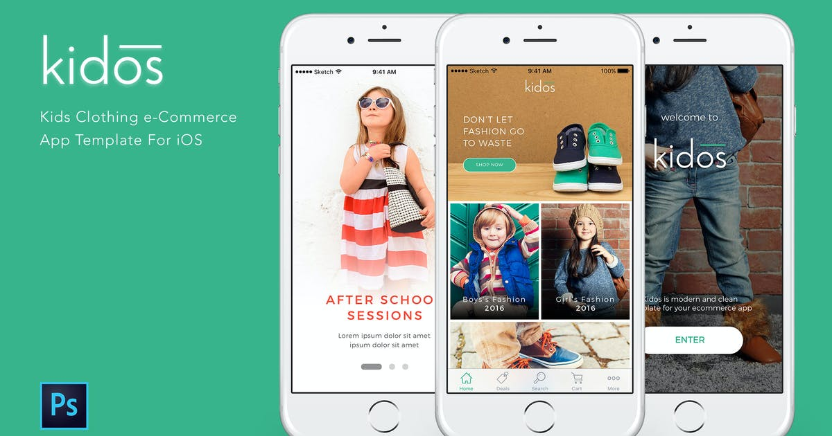 Kidos Kids Clothing e-Commerce PSD by Unknow