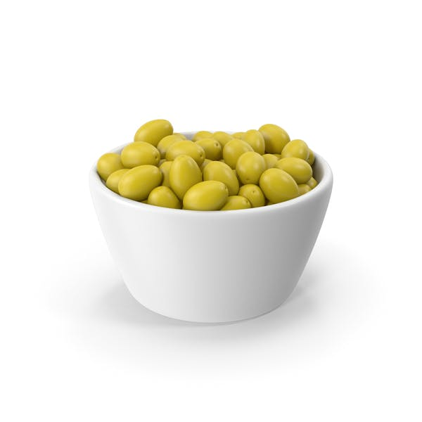 Bowl With Green Olives