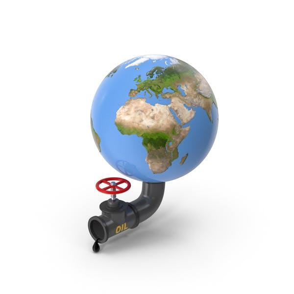 Earth Stylized Oil Tube