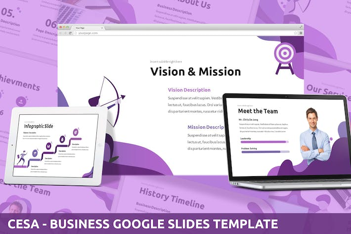 Thumbnail for Cesa - Business Google Slides Template