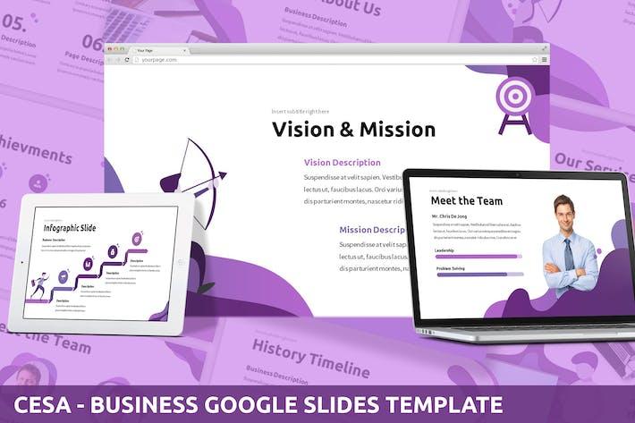 Thumbnail for Cesa - Google PräsentationsVorlage Unternehmen