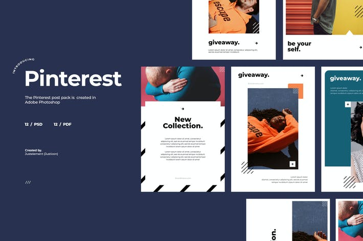 Thumbnail for 12 Lifestyle Pinterest Post Template