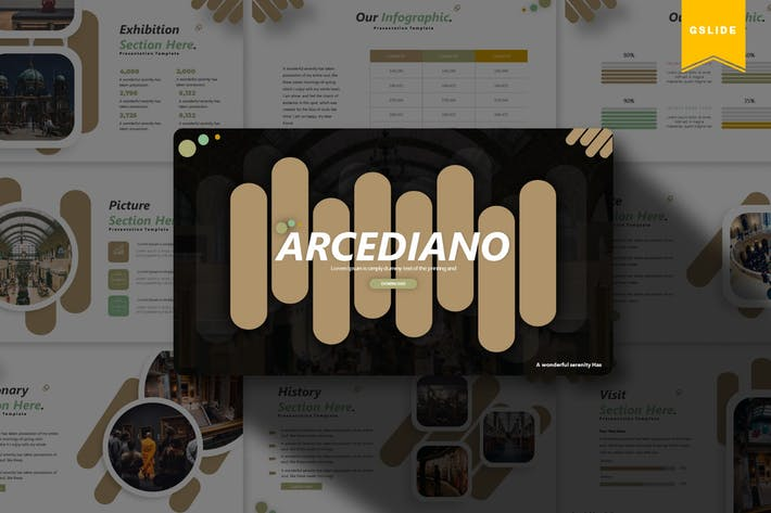 Thumbnail for Arcediano | Google Slides Template