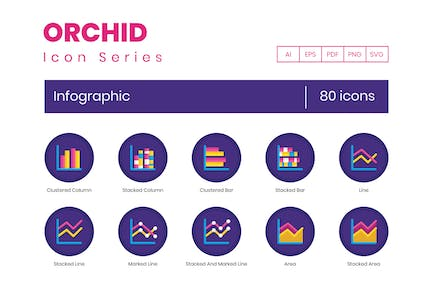 80 Infographic Flat Icons