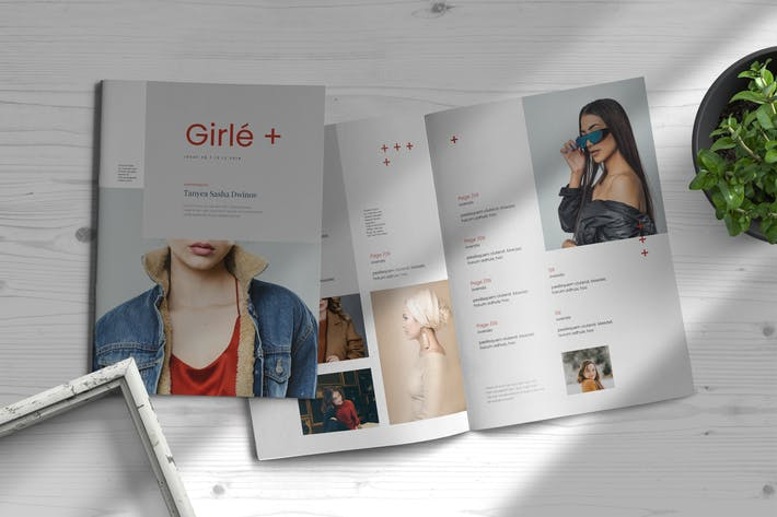 Thumbnail for Girle | Indesign Magazine Template