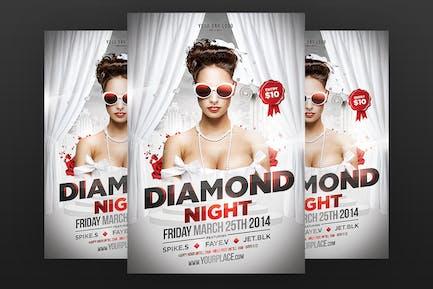 Diamond Night Flyer Template