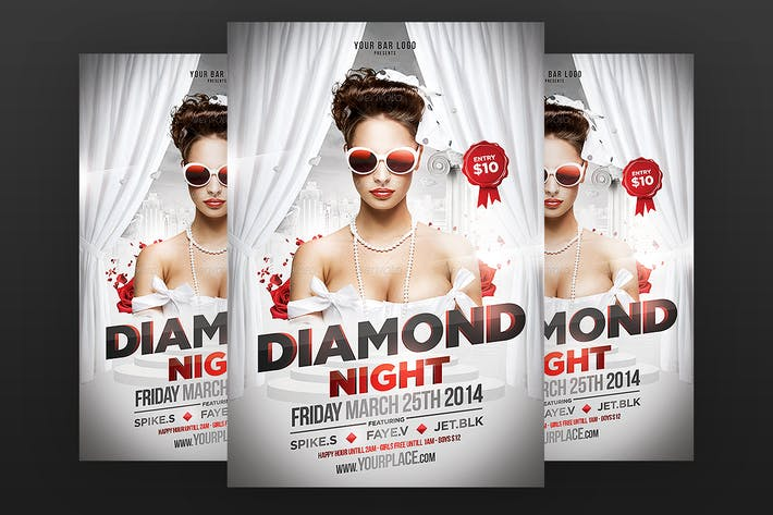 Thumbnail for Diamond Night Flyer Template