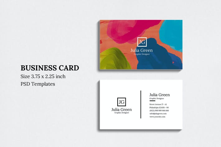 Thumbnail for Abstract Business Card Vol 07