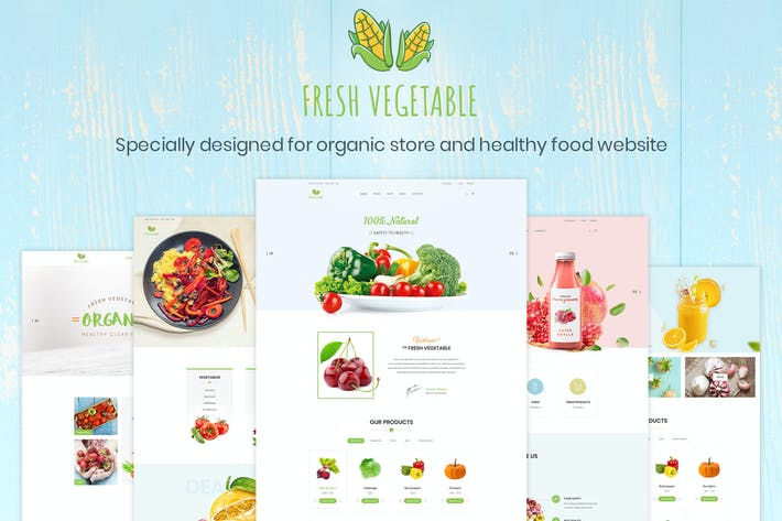 Thumbnail for Fresh Vegetable - Organic Store & Eco Food Product