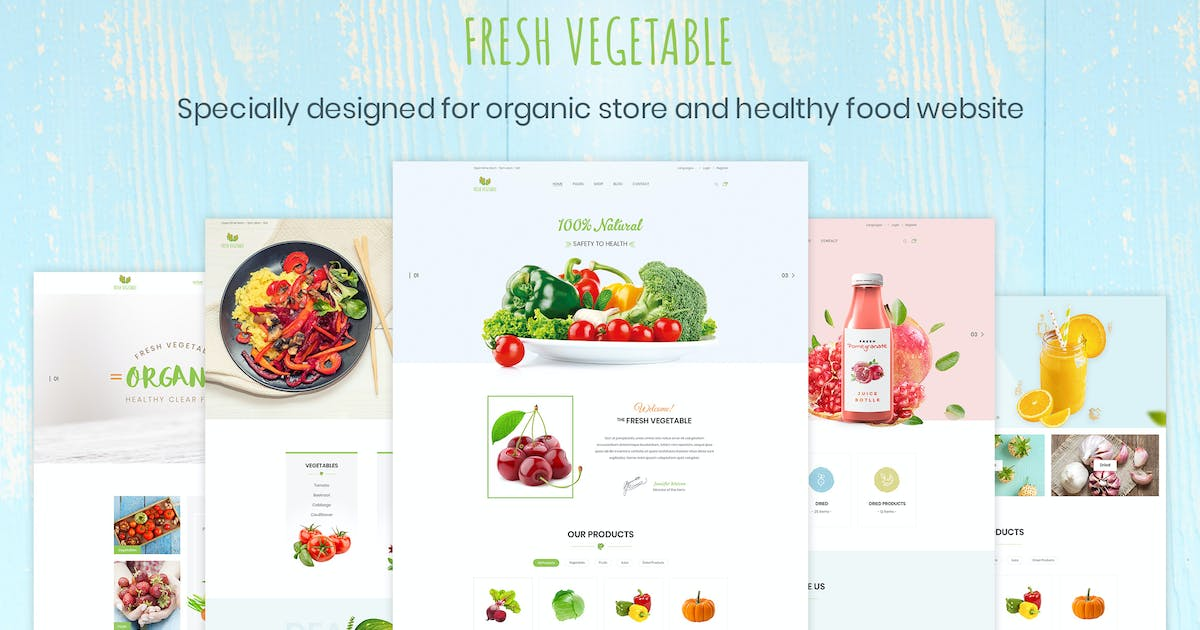 Download Fresh Vegetable - Organic Store & Eco Food Product by AuThemes