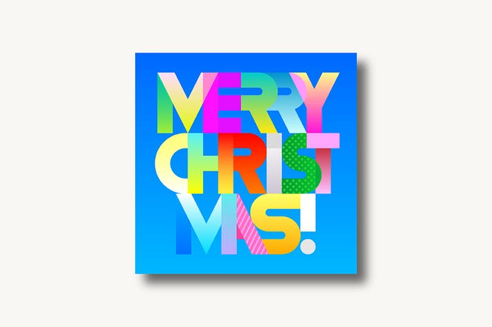 Thumbnail for Merry Christmas decorative text (two options)