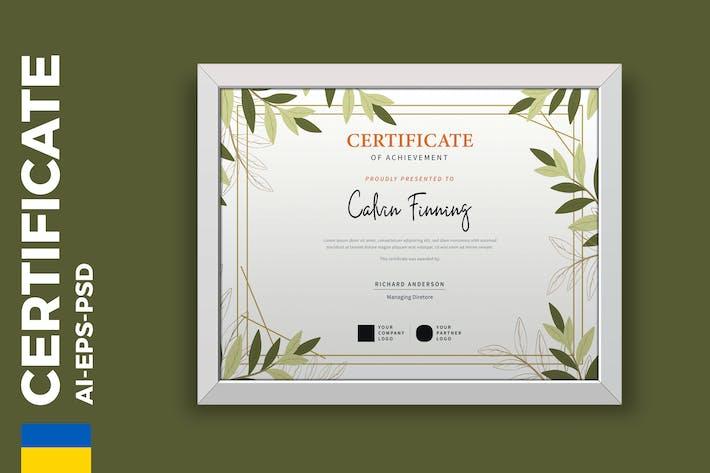 Thumbnail for Blumenzertifikat/ Diplom Vorlage