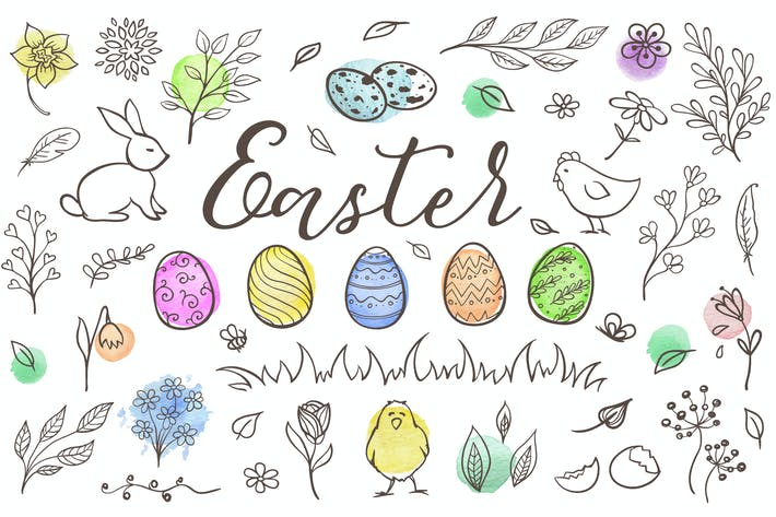 Thumbnail for Easter Design Elements and Patterns