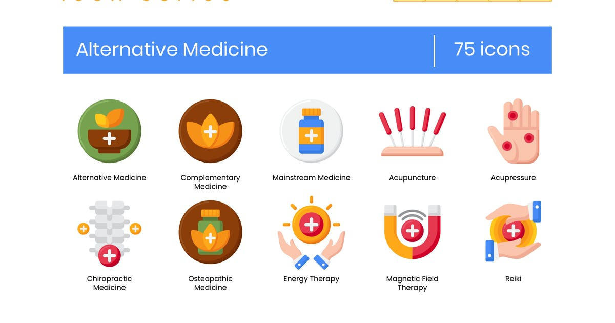 Download 75 Alternative Medicine Icons - Rich Series by Krafted