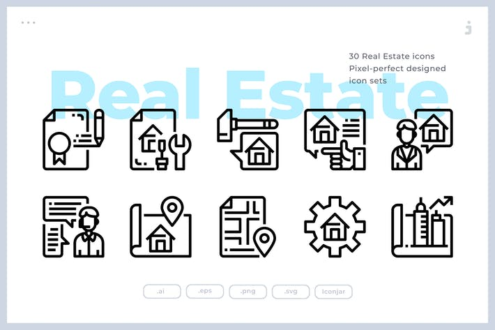 Thumbnail for 30 Real Estate Icons