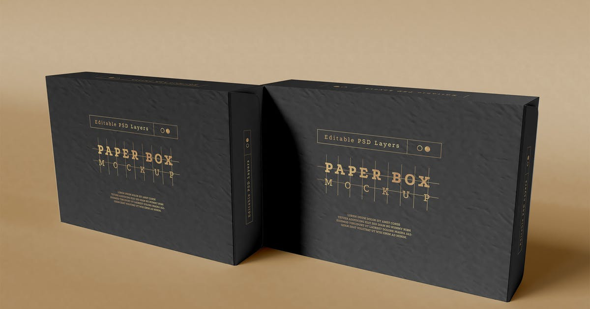 Download Paper Box Packaging Mockup by megostudio