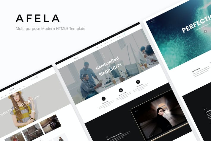 Thumbnail for Afela - Flexible Multi-Purpose HTML5 Template