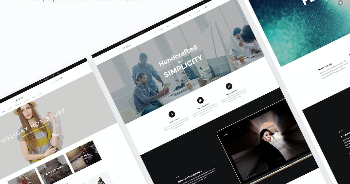 Download Afela - Flexible Multi-Purpose HTML5 Template by DeoThemes