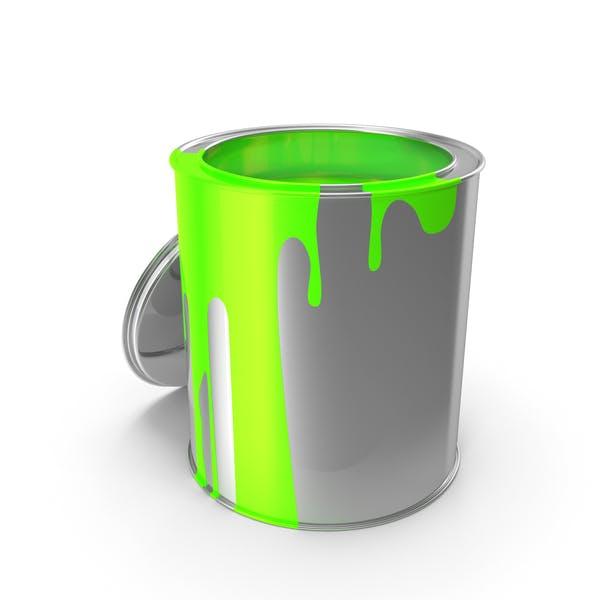 lata de pintura verde