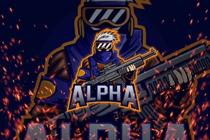 Thumbnail for Alpha - Esport & Mascot Logo
