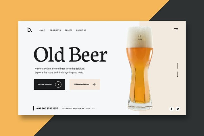 Thumbnail for Old Beer - Landing Page