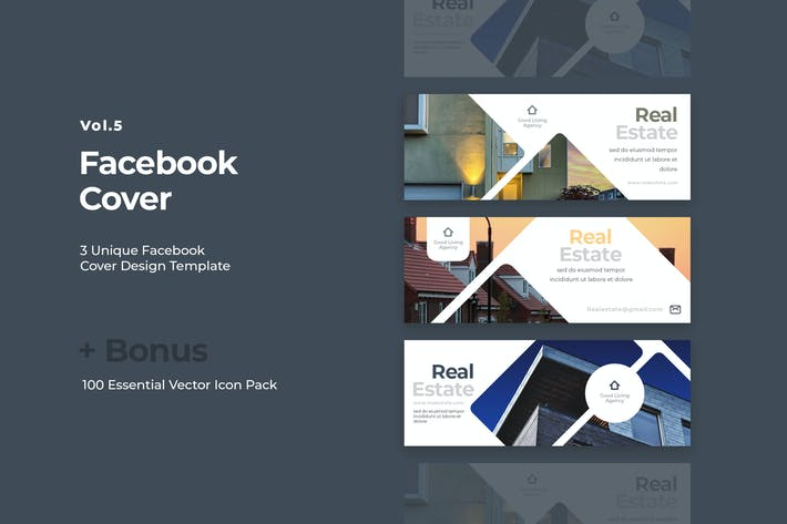 Thumbnail for Facebook Cover Vol.5