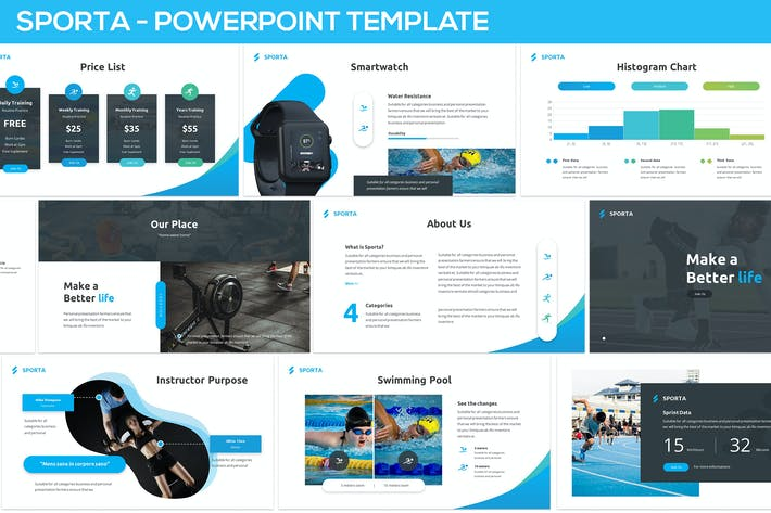 Thumbnail for Sporta - Powerpoint Presentation Template
