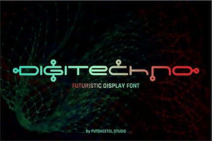 Digitechno - Affichage futuriste