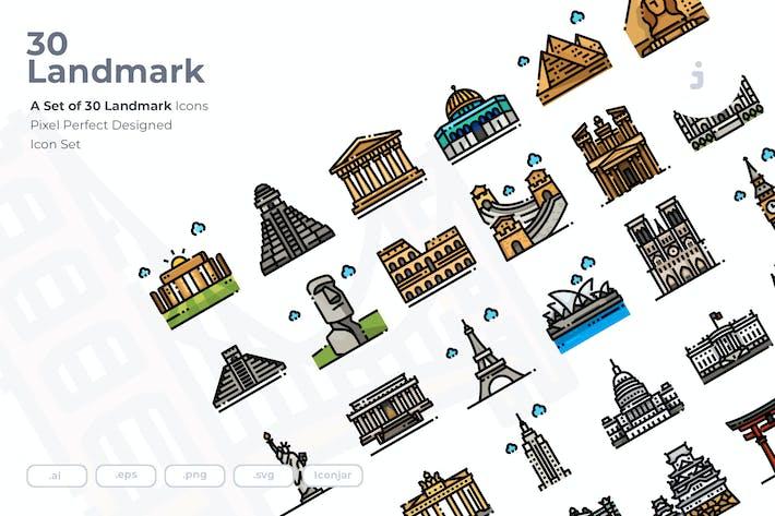 Thumbnail for 30 Wahrzeichen Icons