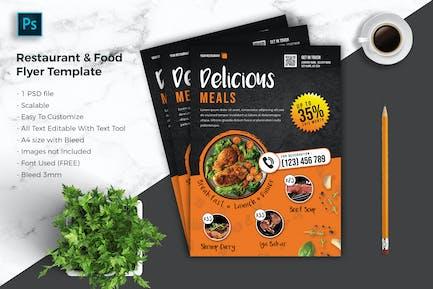 Restaurant & food Flyer Template vol-03