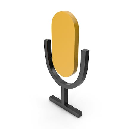 Microphone Black and Yellow Icon